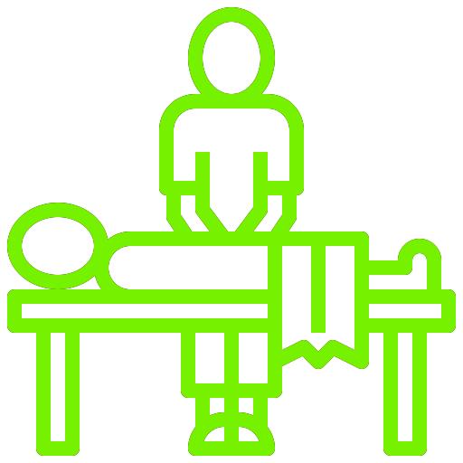 icono de fisioterapeuta con cliente