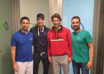 Tenistas Carlos Alcaraz y Juan Carlos Ferrero