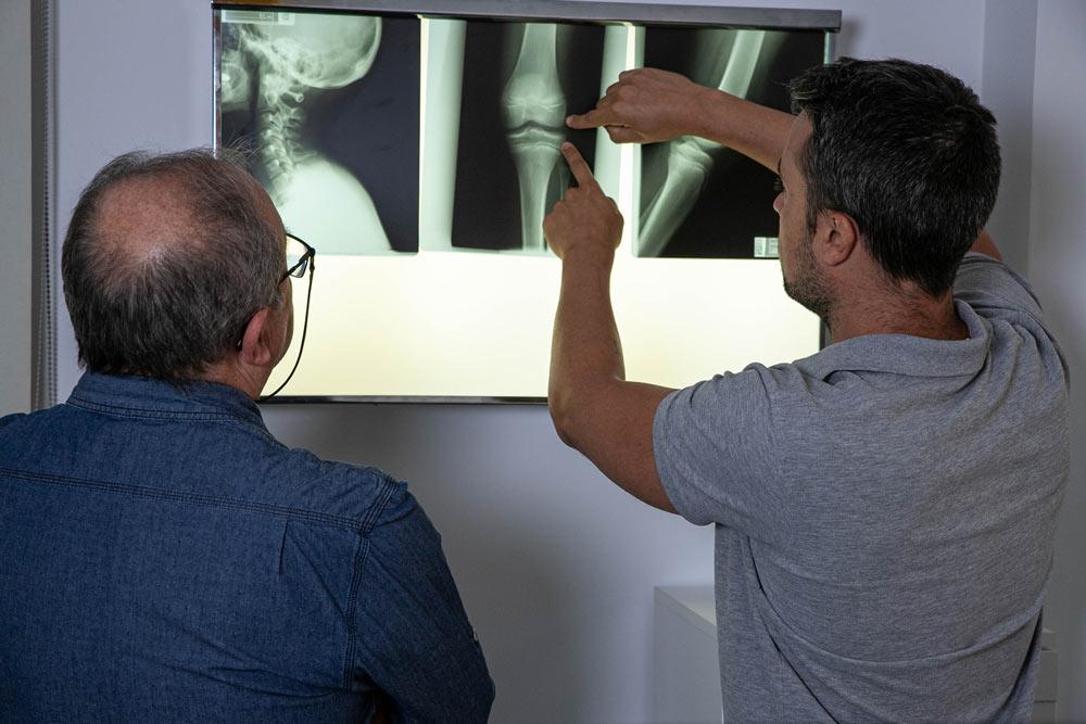 Paciente en sesión de osteopatía